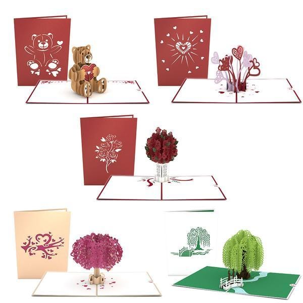 5 days of love pop-up cards