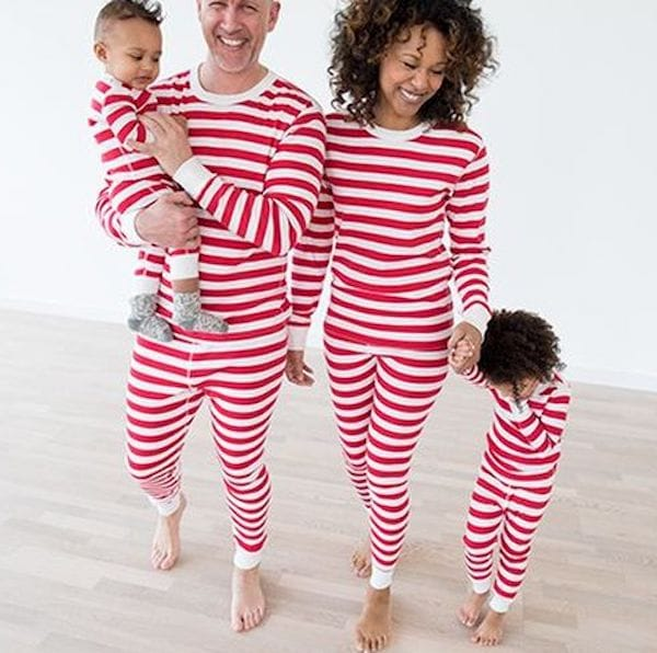 Red Striped Matching Family Pajamas