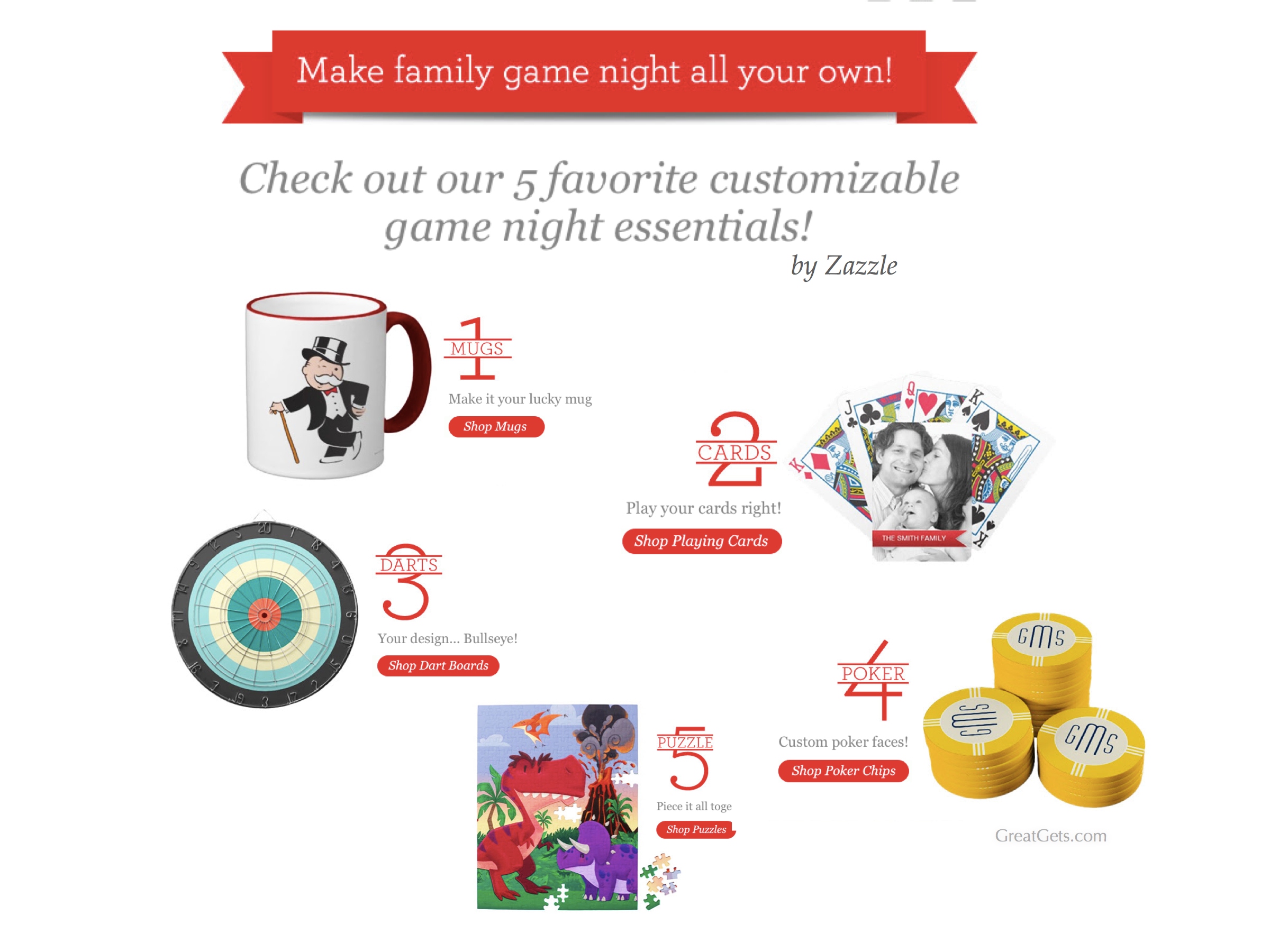 Customizable Game Night Essentials