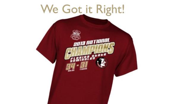 Florida State Seminoles 2013 BCS Championship Gear
