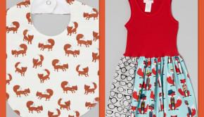 Baby Fox Bib & Girls Fox Dress