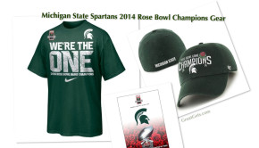 MSU Spartan 2014 Rose Bowl Gear, Michigan State Unitversity