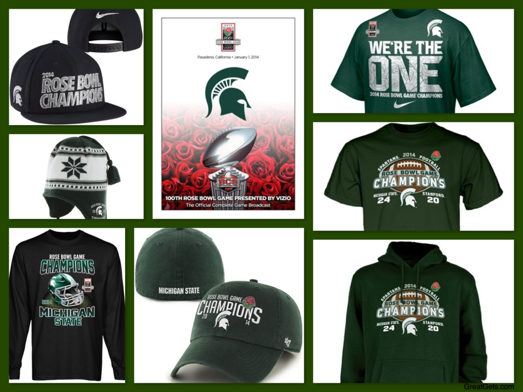Michigan State Spartans 2014 Rose Bowl Champions Gear