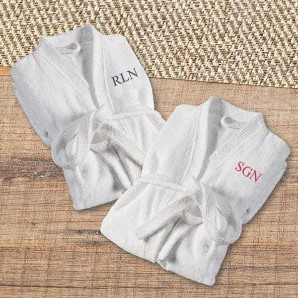 Personalized Embroidered Couples Bath Robes Set