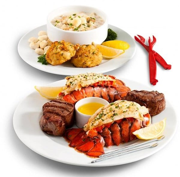 Romantic Filet Feast and Maine Lobster Tails Dinner