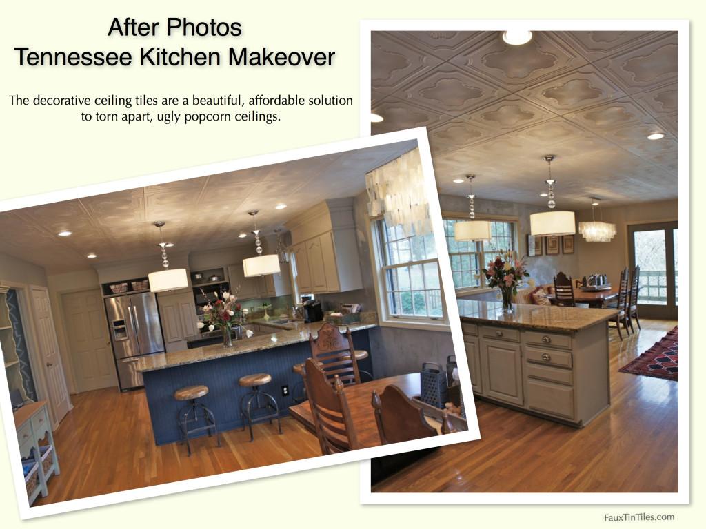 Easy Affordable Damaged  UGLY Popcorn Ceiling Fix DIY Home -  diy affordable kitchen