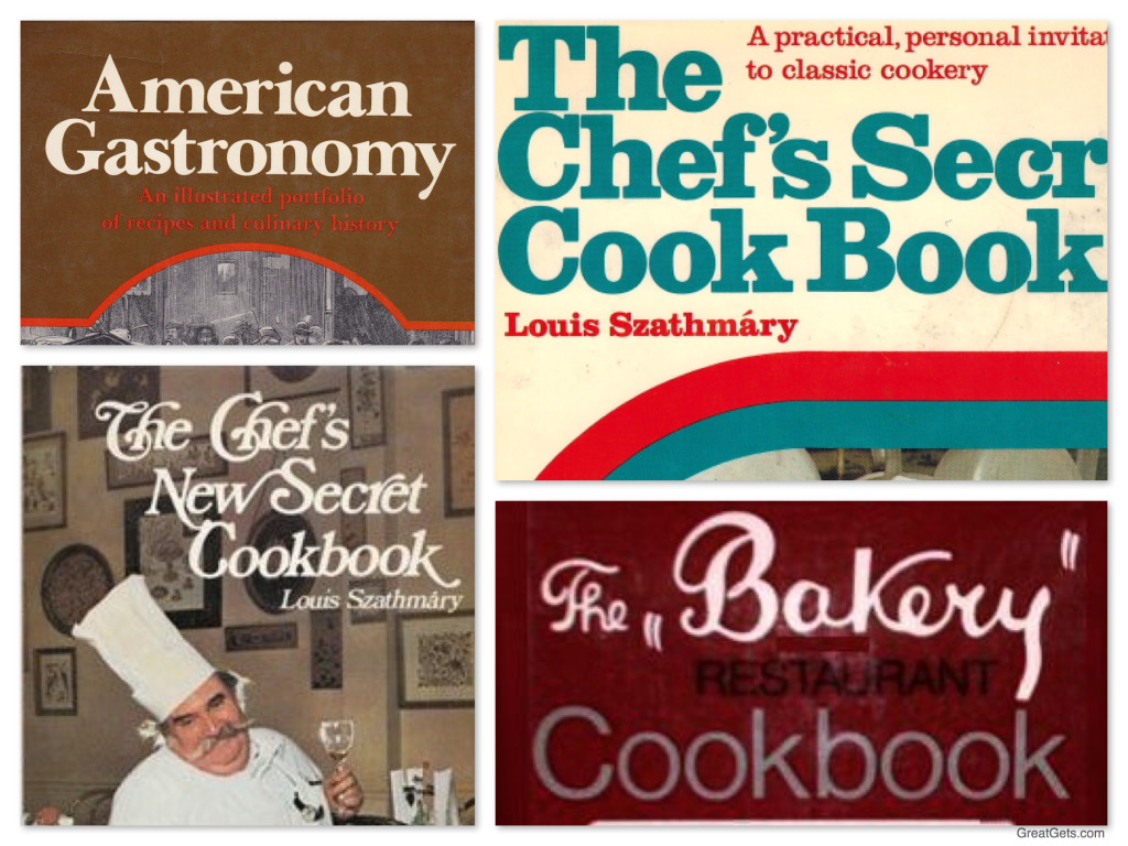 Chef Louis Szathmary, The Bakery Restaurant Chicago, Cook Books