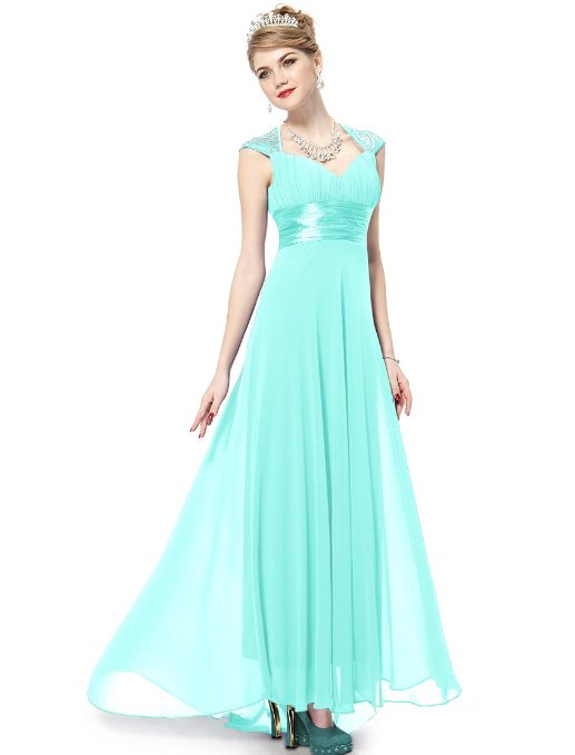 Chiffon Ruffles Empire Line Evening Dress