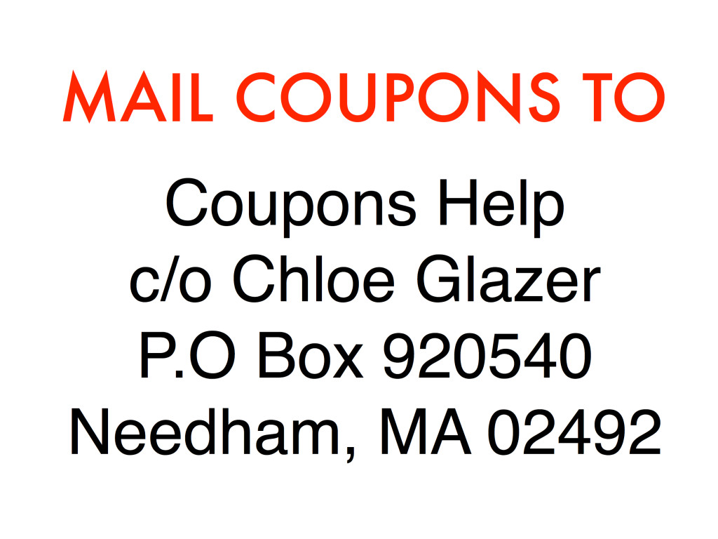 Coupons Help Mailing Address
