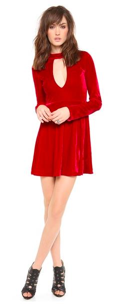 For Love & Lemons Velvet Anna Dress