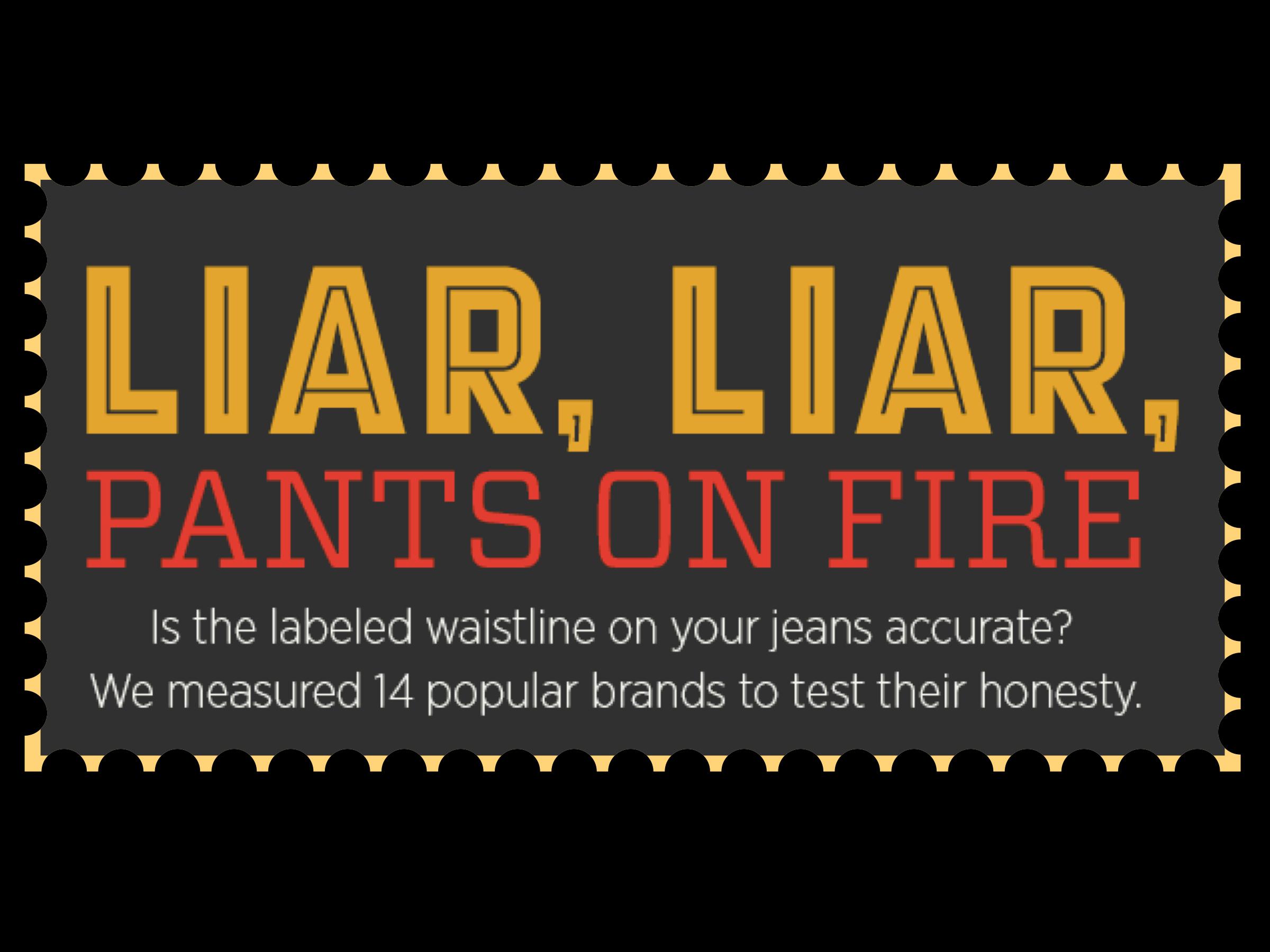 Pants Size Comparison
