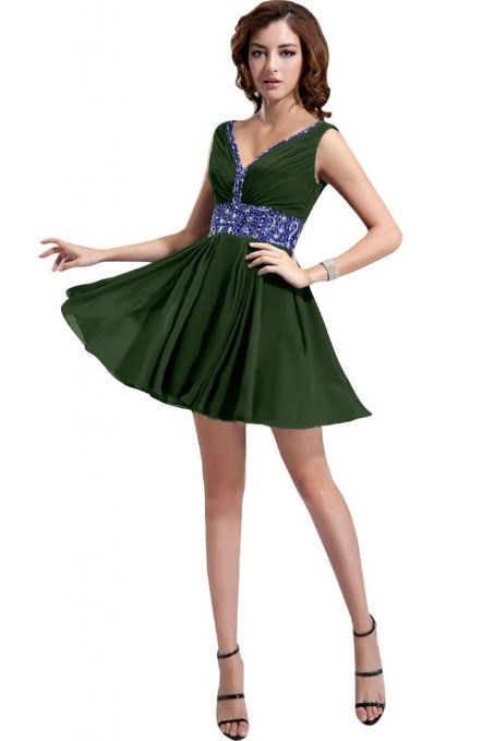 Short Green Prom Dress
