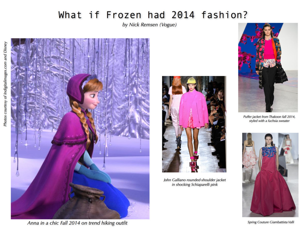 What If _Frozen had 2014 Fashion? Anna in a Fuschi Cape Outfit
