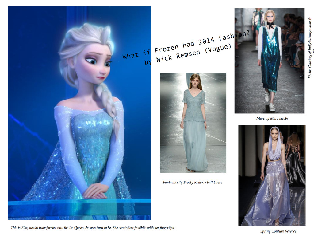 What if Frozen had 2014 fashion? Elsa  in Ice Princess Gown