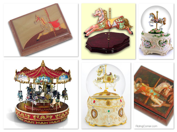 Beautiful Carousel Music Boxes