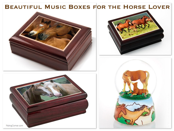 Beautiful Music Boxes for the Horse Lover
