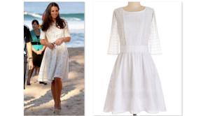 Get The Look >> Kate Middleton's White Eyelet Dress