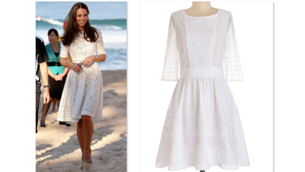 Get The Look >> Kate Middleton's White Eyelet Dress
