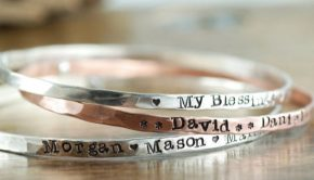 Personalized Bangles for Mom