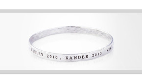 Personalized Sterling Silver Mothers Day Bangles