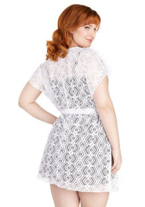 Beach Read Cover-Up Dress in White, ModCloth Summer Plus Size Collection