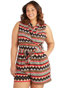 ModCloth Canyon Recreation Romper in Plus Size, ModCloth Summer Plus Size Collection