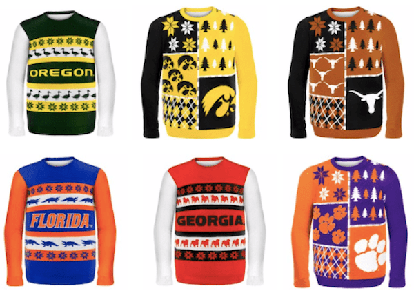 College Fan Ugly Sweaters