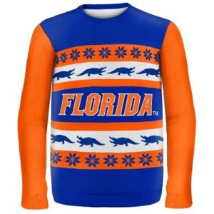 College Sweaters, college game day sweaters, Florida Gators Wordmark Ugly Sweater