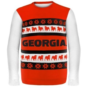 College Sweaters, college game day sweaters, Georgia Bulldogs Wordmark Ugly Sweater