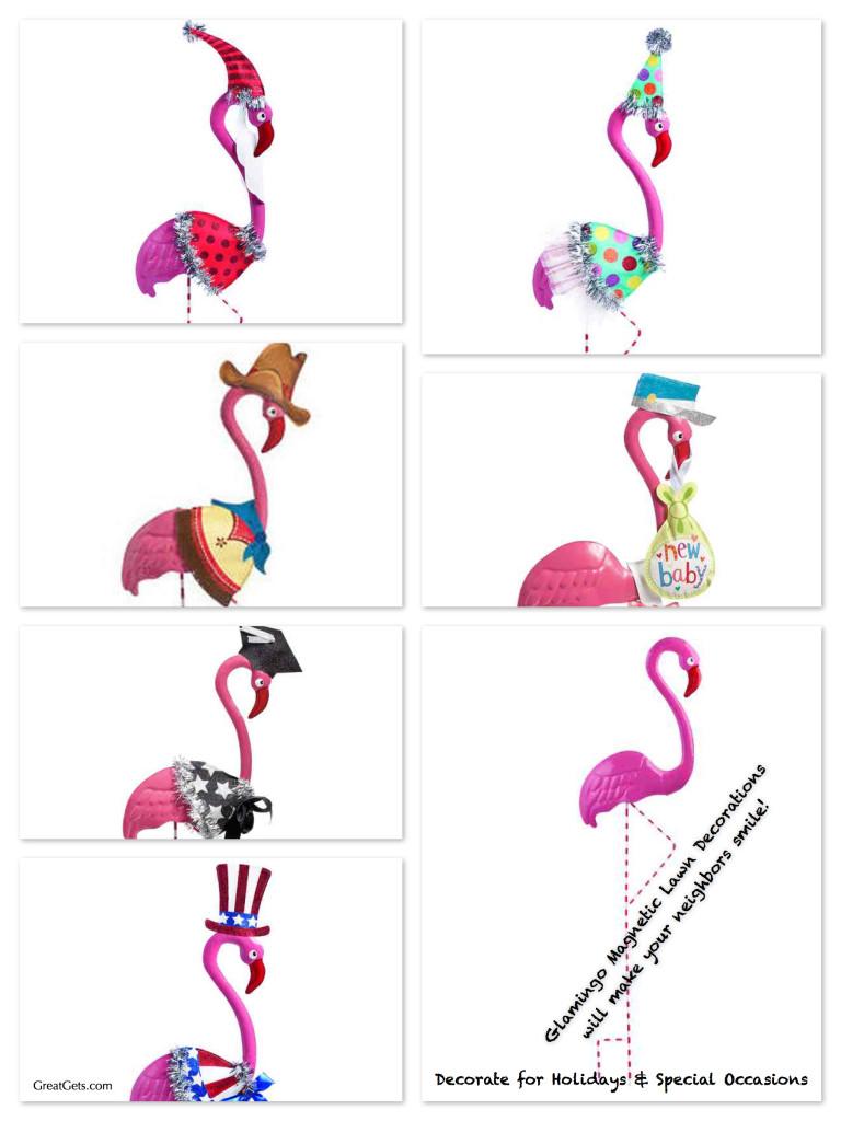 Glamingo Flamingo Magnetic Lawn Decorations
