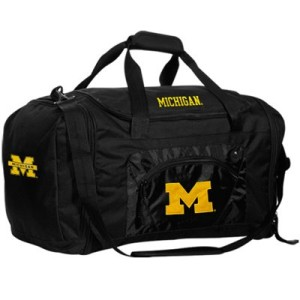 Michigan Wolverines Black Roadblock Duffel Bag