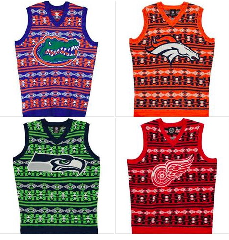 College Sweaters and Sports Team Sweater Vests