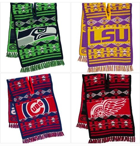 College Sweaters and Sports Teams Knit Ponchos