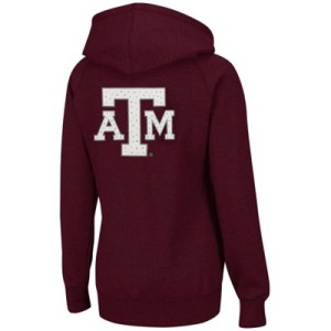 Texas A&M Aggies Ladies Vegas Full Zip Hoodie - Maroon