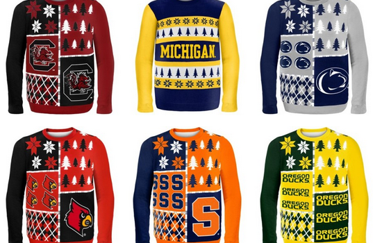 College sweaters, college game day sweaters, Ugly Sweaters