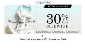 Tiny Prints Labor Day Sale