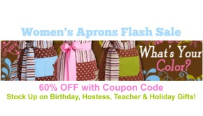 Women's Aprons Flash Sale