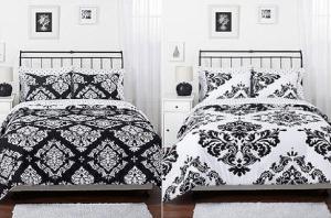 Decorating Your Dorm Room black & white comforter , dorm room decor