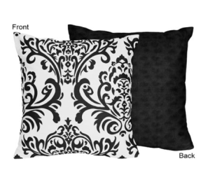 Decorating Your Dorm Room black & white-pillows