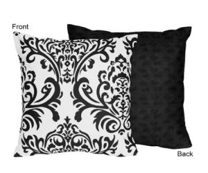 Decorating Your Dorm Room black & white-pillows