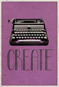 create-retro-typewriter-player-art-poster-print, dorm room decor
