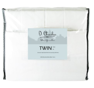 Decorating Your Dorm Room white sheet set