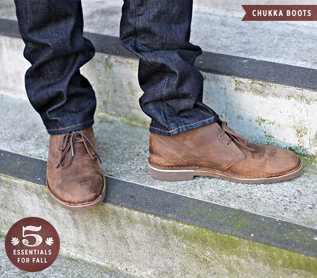 Chukka Boots, Men's Fall Wardrobe Essentials