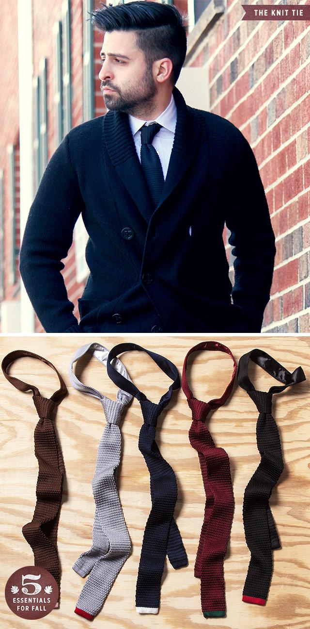 Knit Tie, Men's Fall Wardrobe Essentials
