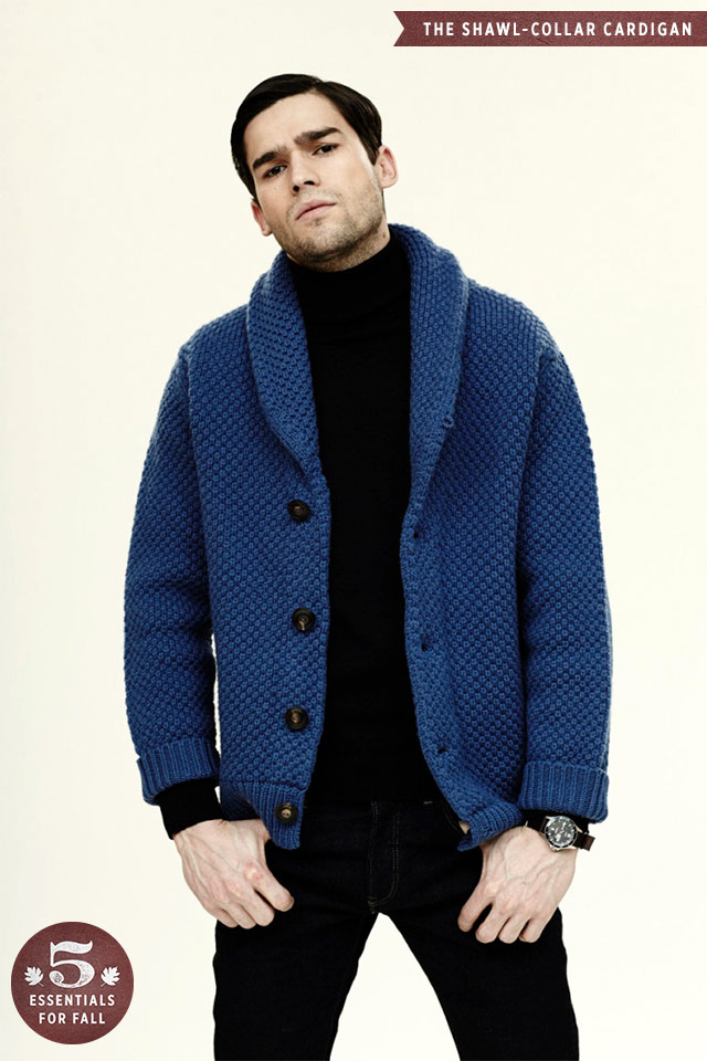 Shawl Collar Cardigan, Men's Fall Wardrobe Essentials