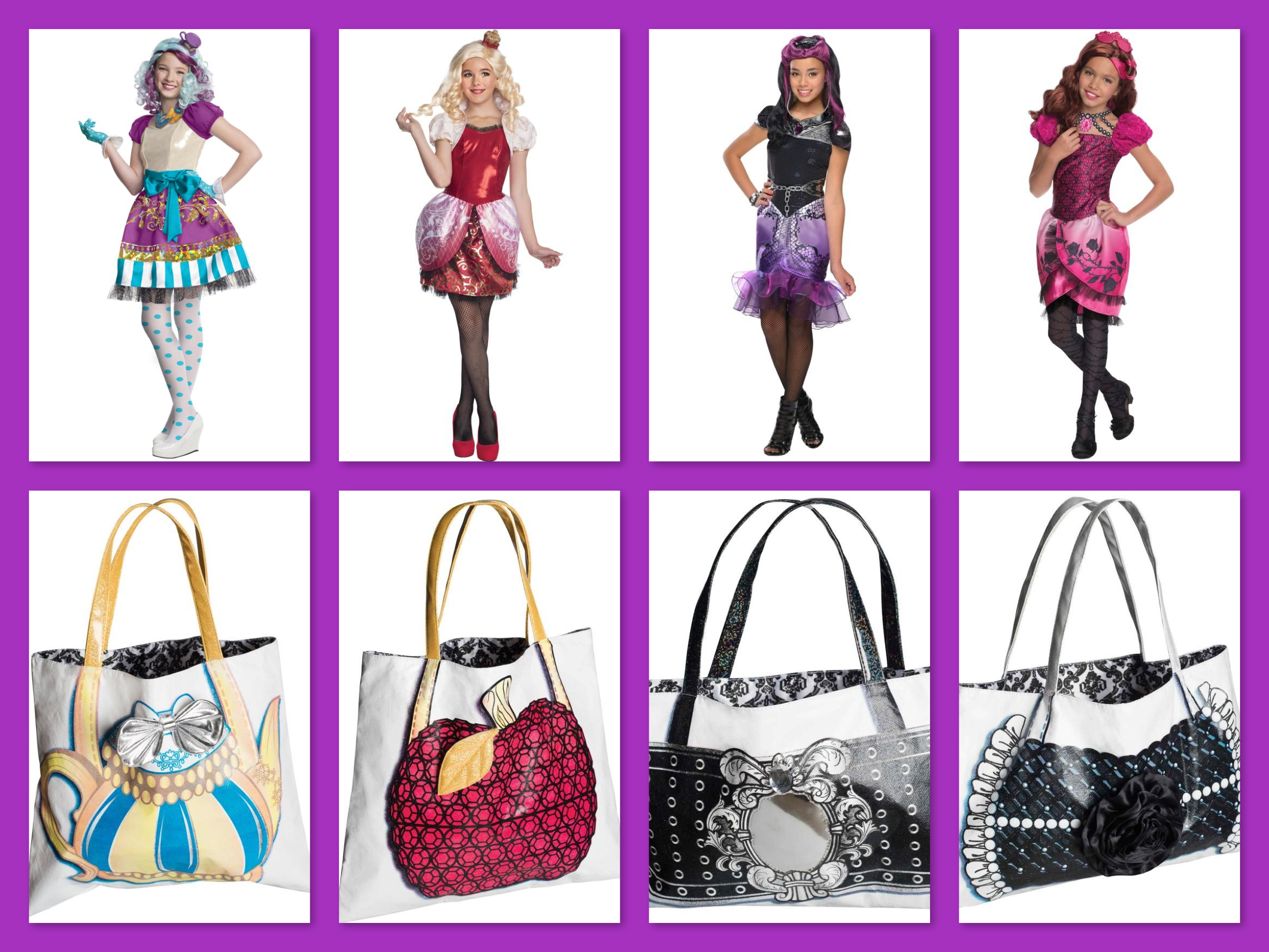 Ever After High Group Fairy Costumes & Matching Purses, Trending Halloween Costumes