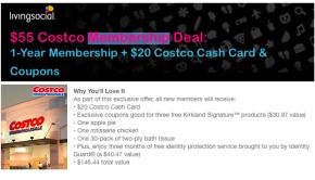 Costco Gold Star Membership Sale, Living Social Costco Membership Deal,