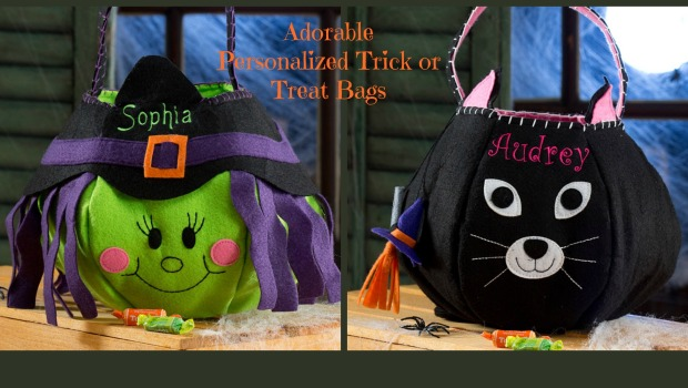 Adorable Personalized Trick or Treat Bags