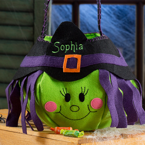 Lil Witch Embroidered Trick or Treat Bags