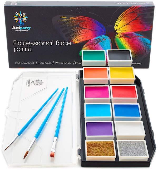 Non-Toxic & Hypoallergenic Face Paint Kit